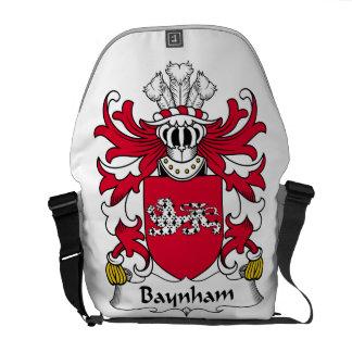 Escudo de la familia de Baynham Bolsa Messenger