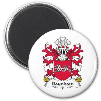 Escudo de la familia de Baynham Imán Redondo 5 Cm