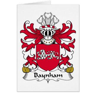 Escudo de la familia de Baynham Tarjeta De Felicitación