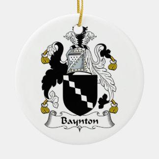 Escudo de la familia de Baynton Adorno Redondo De Cerámica