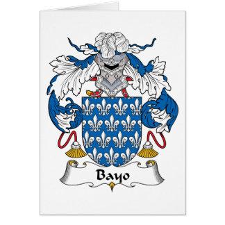 Escudo de la familia de Bayo Tarjeta De Felicitación