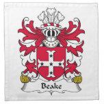 Escudo de la familia de Beake Servilleta
