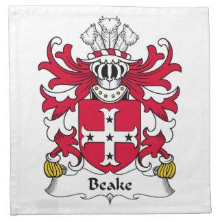 Escudo de la familia de Beake Servilletas De Papel