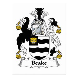 Escudo de la familia de Beake Tarjetas Postales