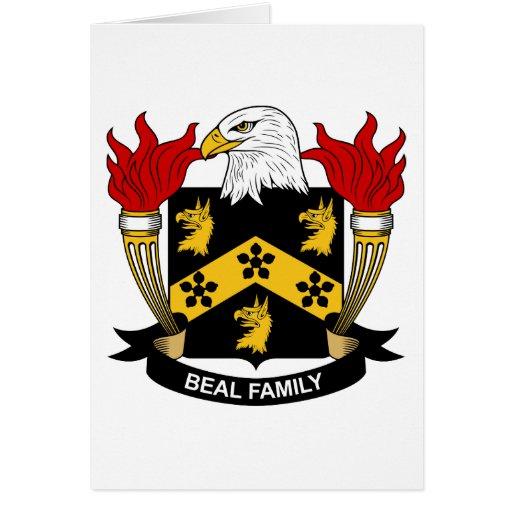 Escudo de la familia de Beal Felicitacion