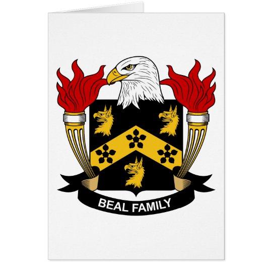 Escudo de la familia de Beal Tarjeta De Felicitación