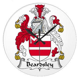Escudo de la familia de Beardsley Reloj Redondo Grande
