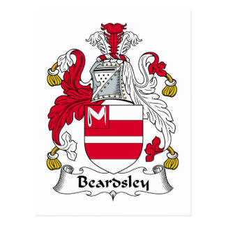 Escudo de la familia de Beardsley Tarjeta Postal