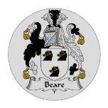 Escudo de la familia de Beare Fichas De Póquer