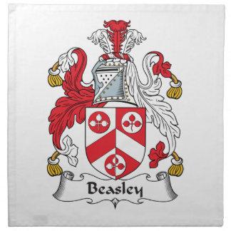 Escudo de la familia de Beasley Servilleta