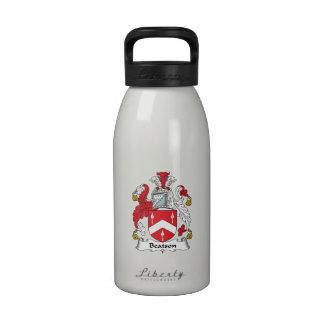 Escudo de la familia de Beatson Botella De Agua Reutilizable