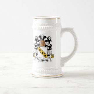 Escudo de la familia de Beaucamp Jarra De Cerveza
