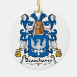 Escudo de la familia de Beauchamp Ornamento Para Reyes Magos
