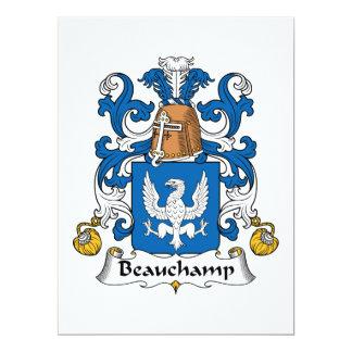 """Escudo de la familia de Beauchamp Invitación 6.5"""" X 8.75"""""""