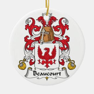 Escudo de la familia de Beaucourt Adorno Redondo De Cerámica