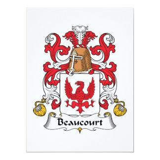 Escudo de la familia de Beaucourt Invitación 16,5 X 22,2 Cm