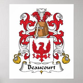 Escudo de la familia de Beaucourt Posters