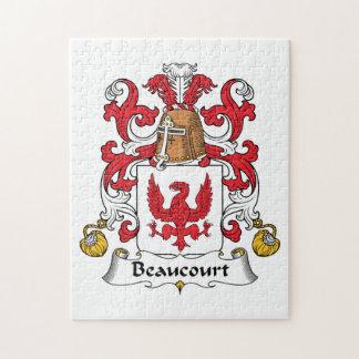 Escudo de la familia de Beaucourt Puzzles