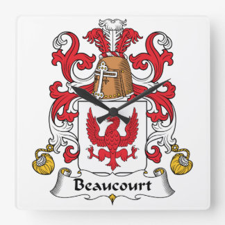 Escudo de la familia de Beaucourt Relojes
