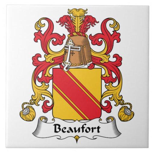 Escudo de la familia de Beaufort Azulejo