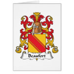 Escudo de la familia de Beaufort Tarjeton