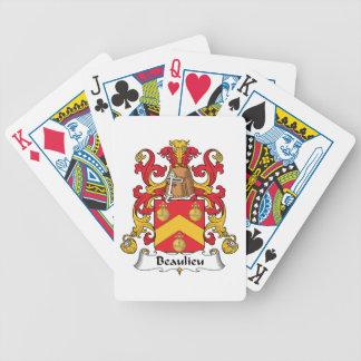 Escudo de la familia de Beaulieu Baraja Cartas De Poker
