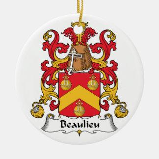 Escudo de la familia de Beaulieu Ornamentos De Navidad
