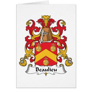 Escudo de la familia de Beaulieu Felicitación