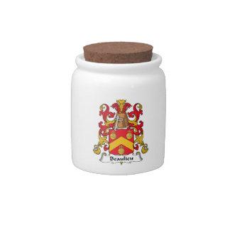 Escudo de la familia de Beaulieu Platos Para Caramelos