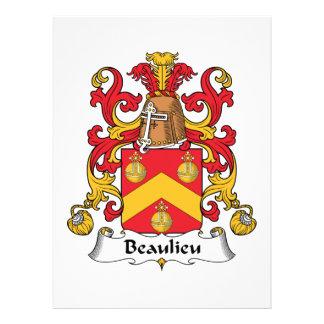 Escudo de la familia de Beaulieu Anuncio Personalizado