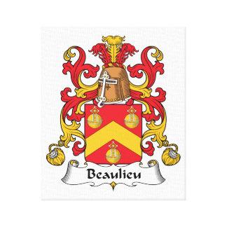 Escudo de la familia de Beaulieu Impresión En Lienzo Estirada