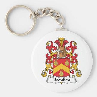Escudo de la familia de Beaulieu Llavero Personalizado