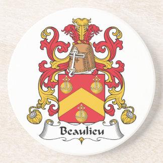 Escudo de la familia de Beaulieu Posavaso Para Bebida