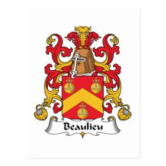 Escudo de la familia de Beaulieu Postal