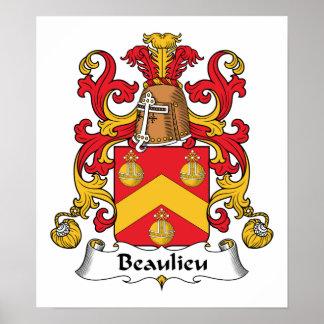 Escudo de la familia de Beaulieu Posters