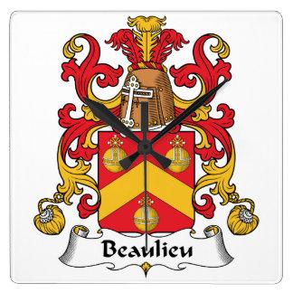 Escudo de la familia de Beaulieu Reloj