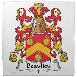 Escudo de la familia de Beaulieu Servilleta Imprimida