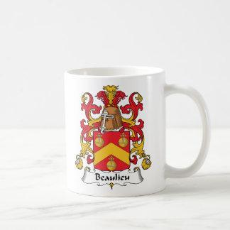 Escudo de la familia de Beaulieu Taza De Café