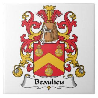 Escudo de la familia de Beaulieu Tejas Ceramicas