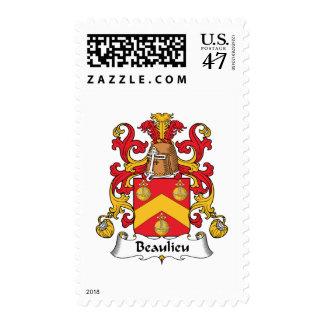 Escudo de la familia de Beaulieu Timbre Postal