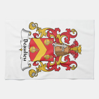 Escudo de la familia de Beaulieu Toallas De Mano