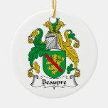 Escudo de la familia de Beaupre Ornamento De Navidad