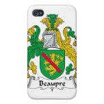 Escudo de la familia de Beaupre iPhone 4 Carcasa