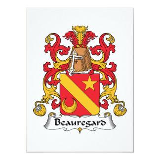 """Escudo de la familia de Beauregard Invitación 6.5"""" X 8.75"""""""