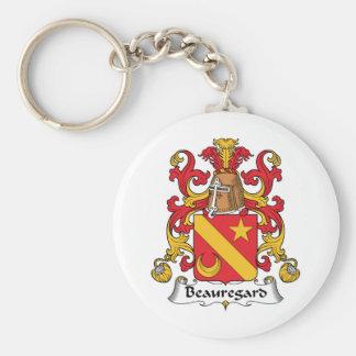 Escudo de la familia de Beauregard Llavero Redondo Tipo Pin
