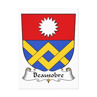 Escudo de la familia de Beausobre Impresión En Lienzo Estirada