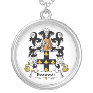 Escudo de la familia de Beauvais Colgante Redondo