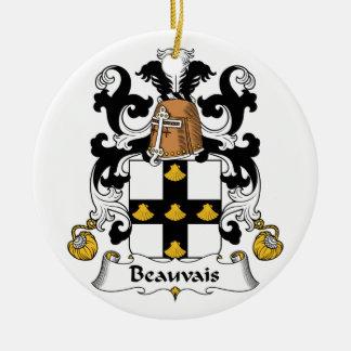 Escudo de la familia de Beauvais Adorno Redondo De Cerámica