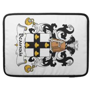 Escudo de la familia de Beauvais Funda Macbook Pro