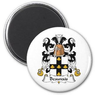 Escudo de la familia de Beauvais Imán Redondo 5 Cm